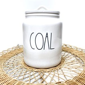 Rae Dunn Artisan Collection Coal Canister With Lid